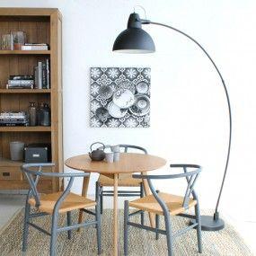 Staande lamp wit of zwart 128/198cm kap 38,5 Loods5 150,=