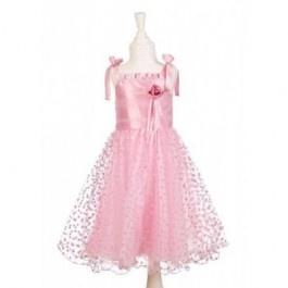 Souza for Kids Verkleedjurk prinses Rosemarie 248    Altijd Leuk deze prachtige roze prinsessenjurk Rosemarie van Souza for kids met hartjestule strikjes bij de schouders!