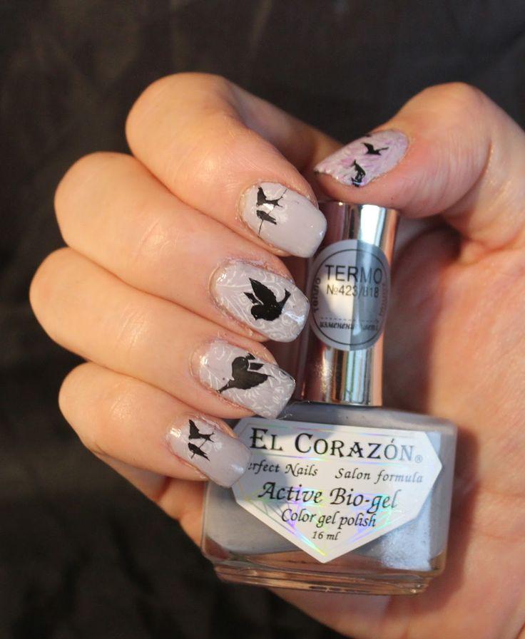 El Corazon thermo polish with stamping www.ihastukset.blogspot.fi