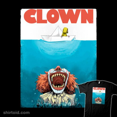 Clown | Shirtoid #boat #book #clown #film #horror #it #jaws #moisescudero #movie #pennywise #stephenking