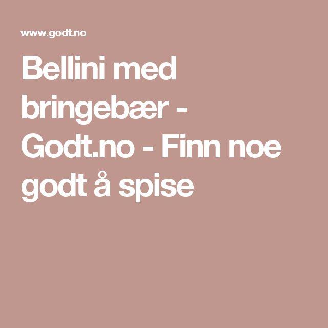 Bellini med bringebær - Godt.no - Finn noe godt å spise