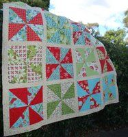 Nearly Christmas Layer Cake Pattern  A fun and easy to make quilt using a Layer Cake. Finished Size: 52 x 52