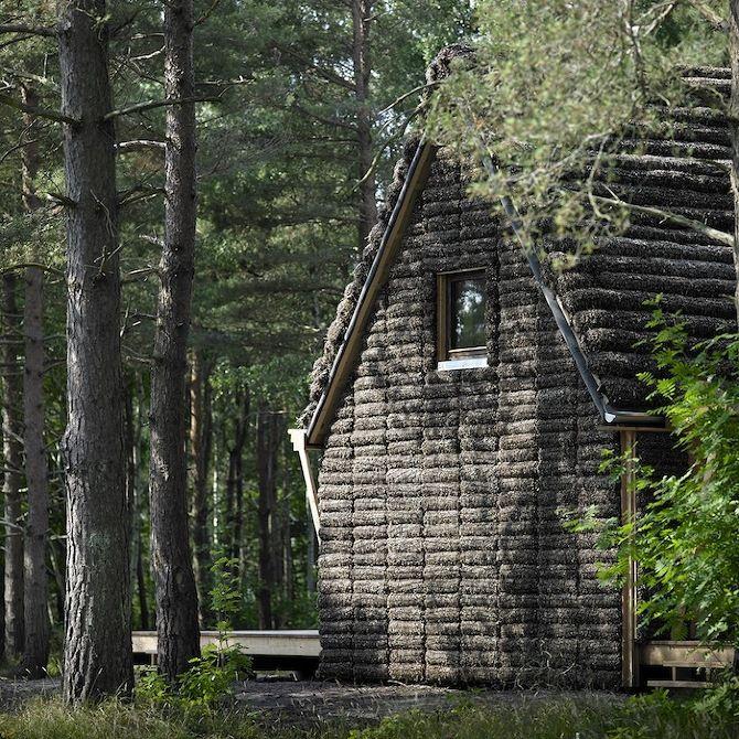Zeewier isolatie. The Modern Seaweed House by Vandkunsten
