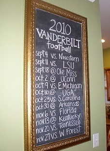 Great idea for boys sports schedules!