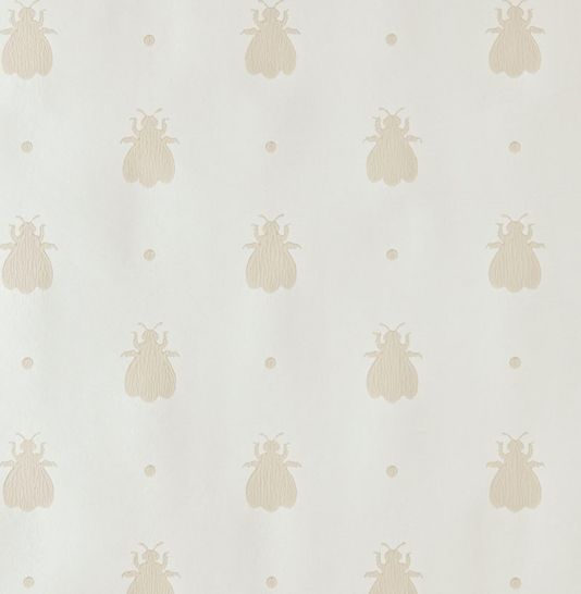 Bumble Bee Wallpaper Off white wallpaper with neutral design of bumble bees