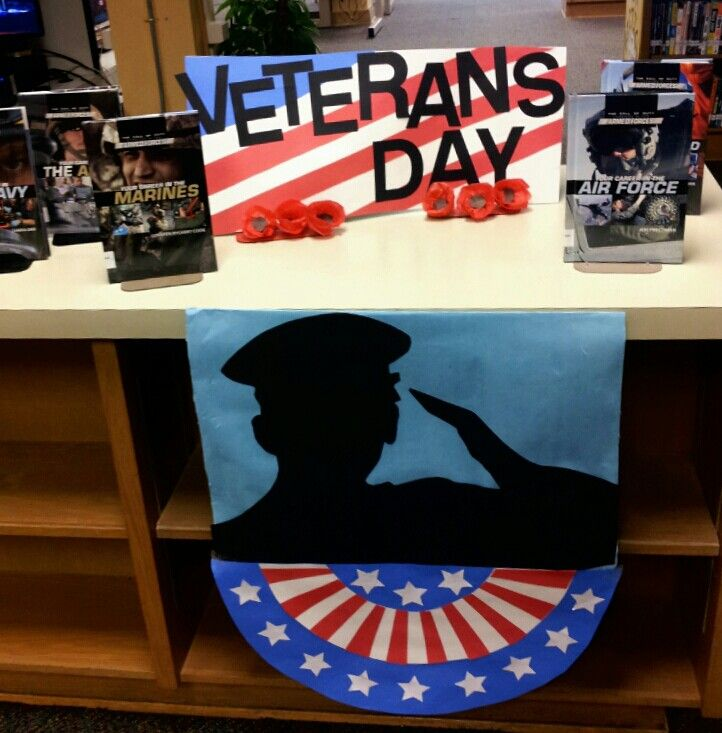 Honoring all who served Veterans Day display