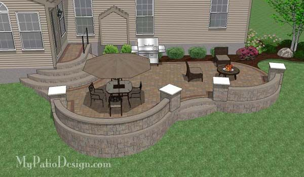 Patio Ideas: Custom Patio Design for Sloping Backyard in West …