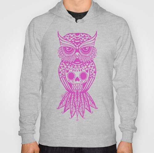 'Sugar Skull Hootle' owl hoodie design. Design by Missa Designs. Copyright 2013