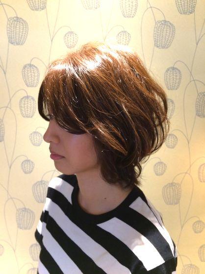 伸ばしかけ ショートボブ | 太白区・名取・岩沼の美容室 Favorite Hair Produce Fitのヘアスタイル | Rasysa(らしさ)