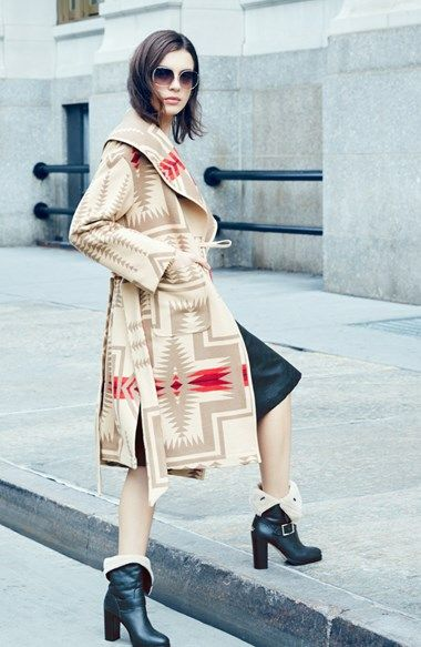 Pendleton Shawl Collar Wool Blanket Coat | Nordstrom