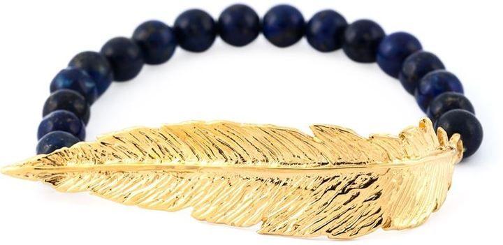 Leivankash beaded feather bracelet