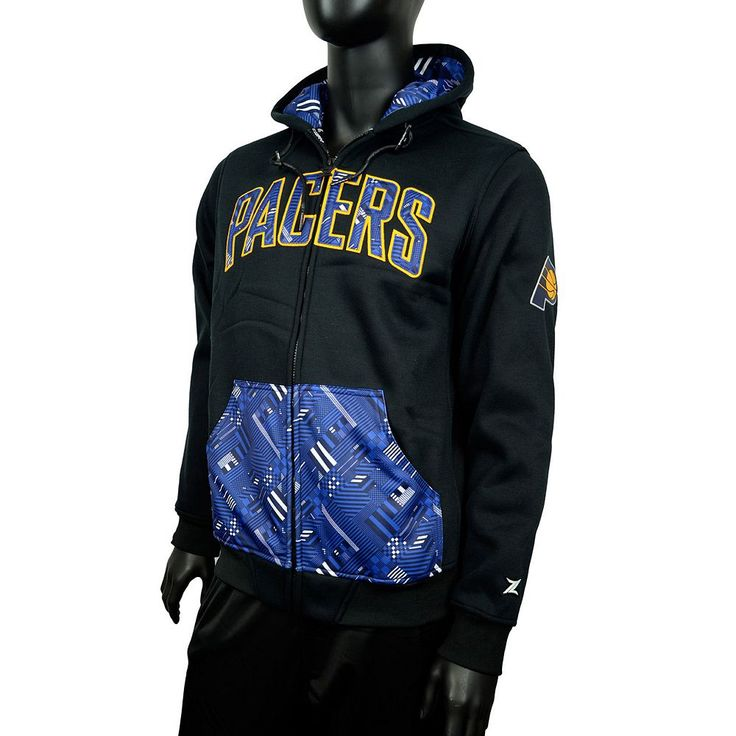 Men's Zipway Indiana Pacers Signature Basics Hoodie, Size: Medium, Black