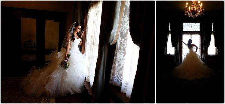 Indoor Bridal Portrait Location - Thistle Hill Mansion in Fort Worth. Love the windows and chandelier.