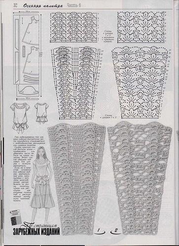 Rockmuster häkeln - crochet skirt pattern