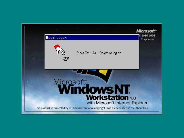 Windows NT 4 login screen