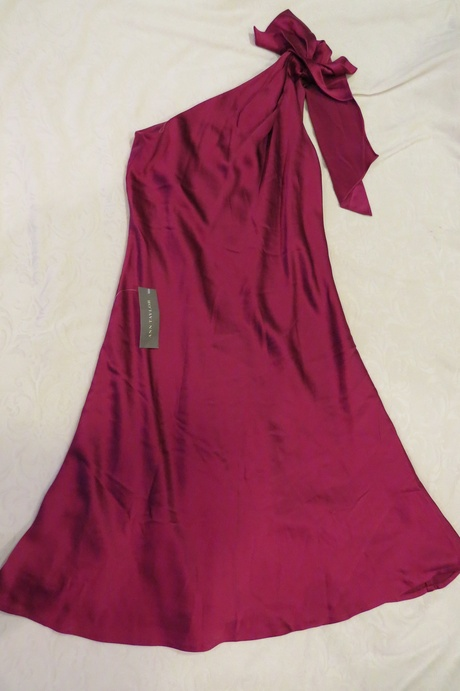 Available @ TrendTrunk.com Stunning Ann Taylor One Shoulder Satin Dress (size 8). By Ann Taylor. Only $131.00!