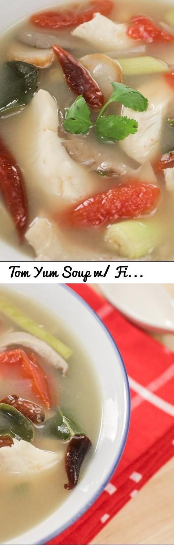 Tom Yum Soup w/ Fish Recipe ต้มยำปลา - Hot Thai Kitchen!... Tags: Hot Thai Kitchen, Pailin, Pai, Chongchitnant, Cooking, food, Thai food, Thai cuisine, Thailand, Thai cooking, recipes, demonstration, cooking show, educational, recipe, อาหารไทย, สตรอาหาร, tom yum, tom yum soup, tom yum fish, fish tom yum, fish soup, fish stock, ต้มยำปลา, ต้มยำ, gluten free, dairy free, fish, tom yum pla, tom yum pla
