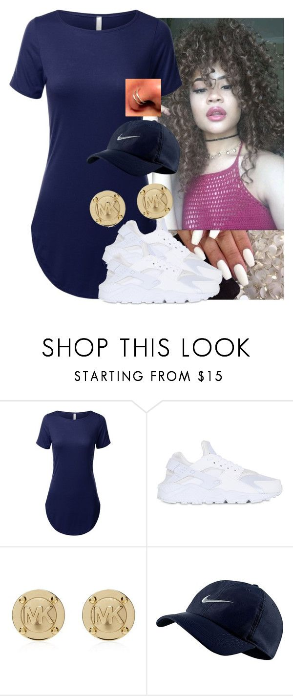 """✨"" by saucinonyou999 ❤ liked on Polyvore featuring NIKE and Michael Kors"