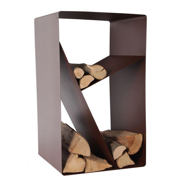 porte buches en acier poxy forme casier chocolat. Black Bedroom Furniture Sets. Home Design Ideas
