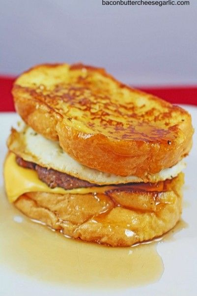 This is a decadent breakfast sandwich. French Toast, Sausage, Egg and cheese. #breakfast #foodporn #dan330 http://livedan330.com/2015/01/29/french-toast-sandwiches/