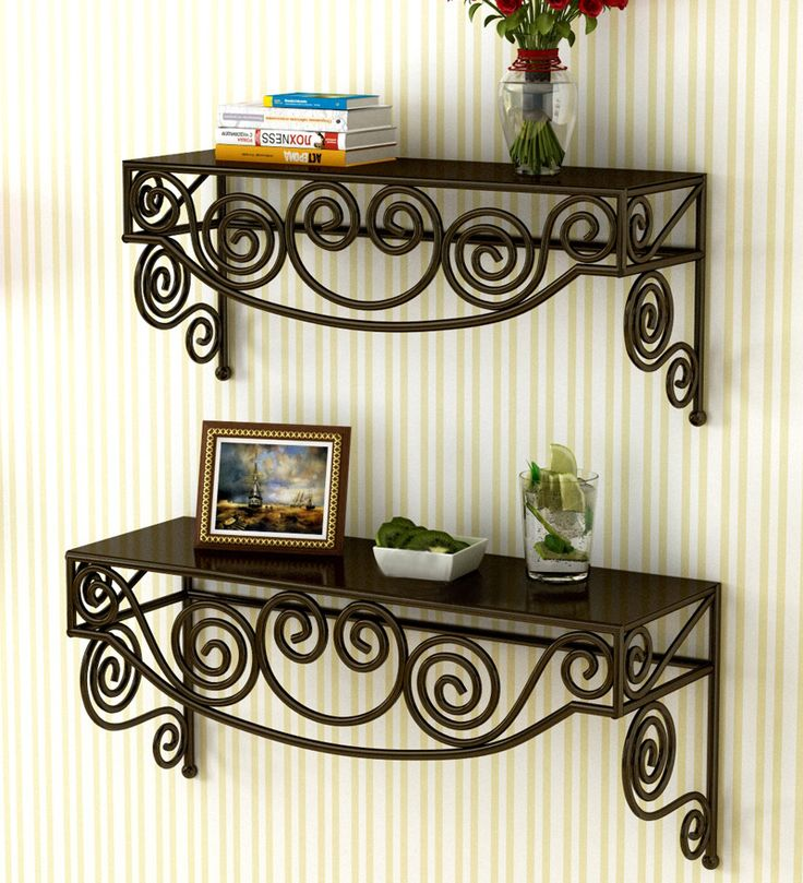 Pretty Wall Shelves - Set of 2 by Home Sparkle Online - Wall Shelves - Home Decor - Pepperfry Product