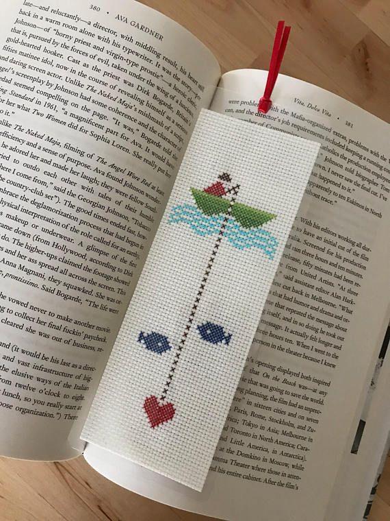 Finished Cross Stitch Bookmark, Finished Work, Laminated