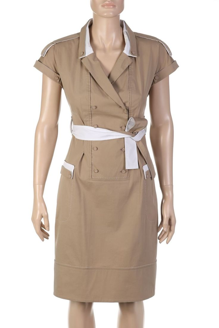 PAULE KA Hemdblusen-Kleid mit Gürtel D 36 beige | eBay