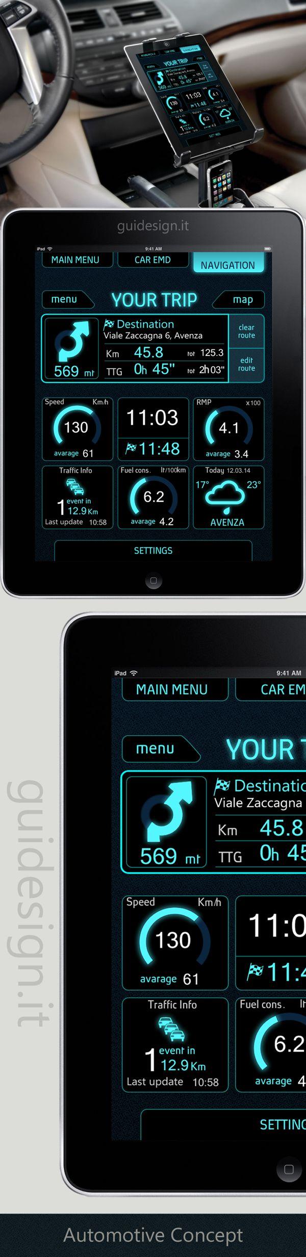 Automotive UI Design Concept by paola gui, via Behance | GUIDESIGN.IT