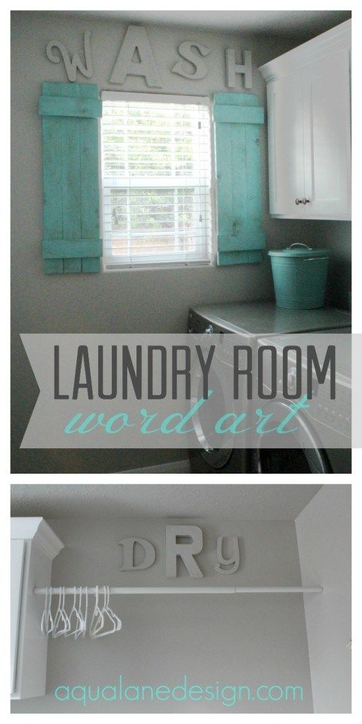 laundry room word art. Love the words and love the colors
