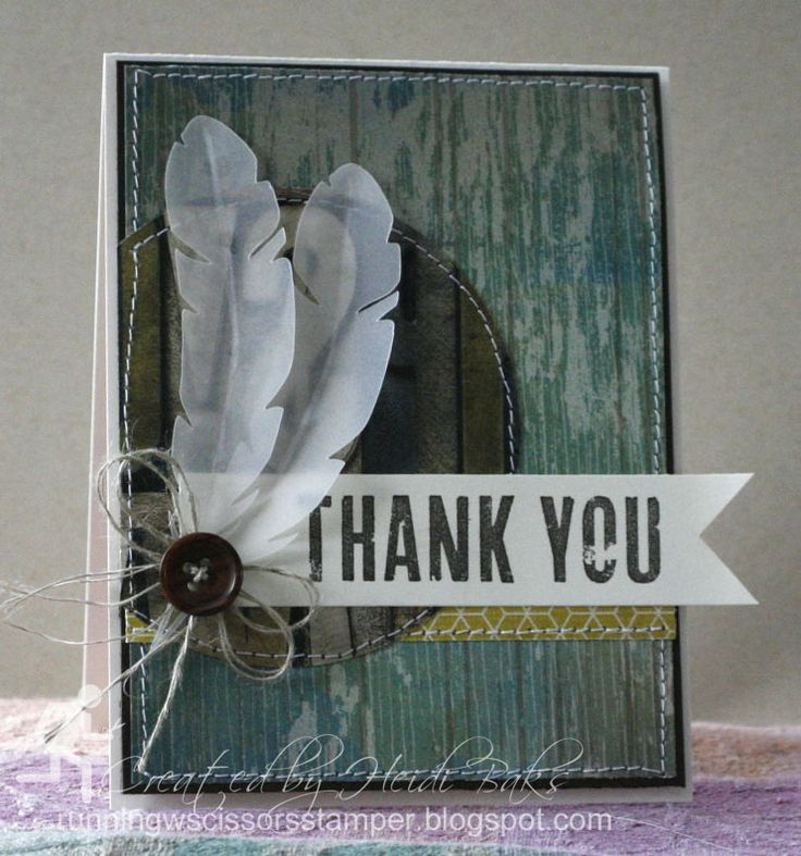 what to write in my bridal shower thank you cards%0A FM    Feathered Thank You by RunningwScissorsStamper  Stampin u     Up   masculine  Dude  You