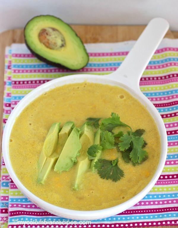 Corn Soup (Crema de Maiz Colombiana) |mycolombianrecipes.com