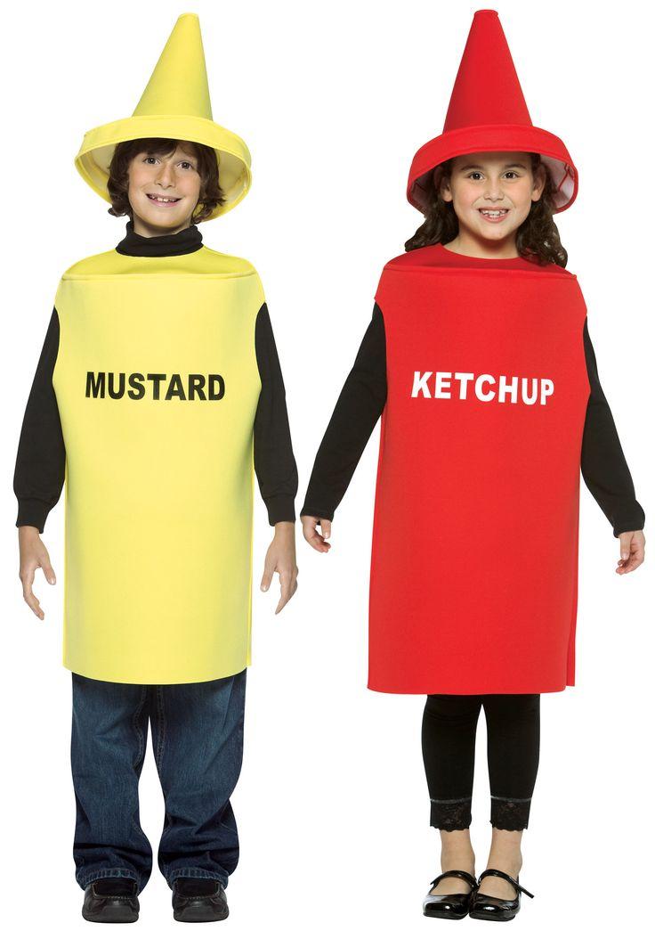 ketchup és mustár jelmez,