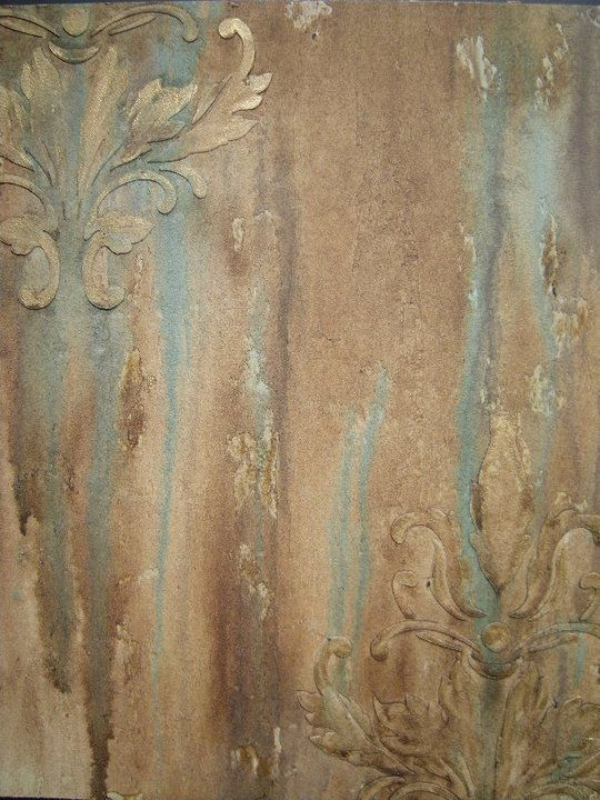 Beautiful faux finish. Get the look by troweling Fine Stone and layering raised stencil reliefs with Artisan Enhancements VP Antico. Create additional depth with a tinted Scumble Glaze.