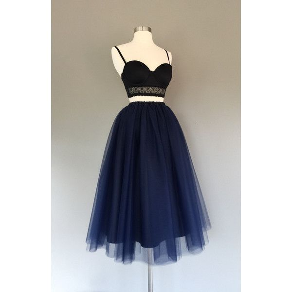 Navy Blue Lined Tulle Skirt Women's Tulle Skirt (545 HKD) ❤ liked on Polyvore featuring skirts, grey, women's clothing, plus size tutu skirt, tulle skirt, plus size tutu, high-low skirt and tutu skirts