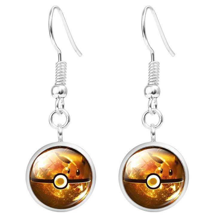 Find More Drop Earrings Information about LIEBE ENGEL Hot Sale Pokemon Jewelry Fashion Silver Cute Pikachu Poke Ball Glass Cabochon Drop Earrings for Women Wholesale,High Quality earrings light,China jewelry part Suppliers, Cheap earring jewelry tree from LIEBE ENGEL Official Store on Aliexpress.com