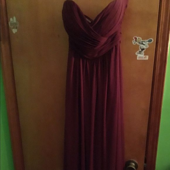 Bill Levkoff Burgundy Gown Sweetheart. Strapless. So comfortable! Bill Levkoff Dresses Strapless