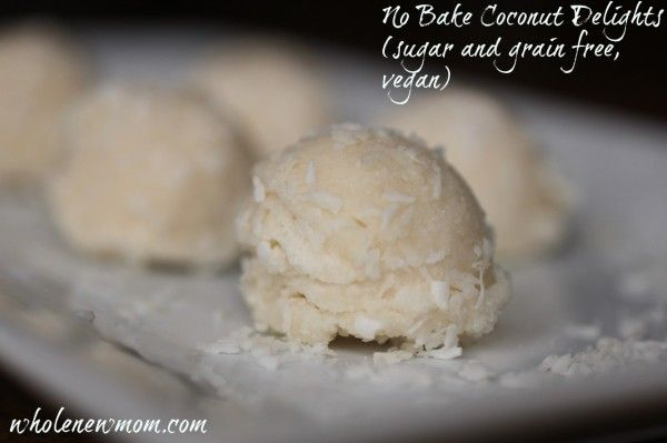 SCD No-Bake Coconut Delights (*Use honey for sweetener & SCD legal topping options...)