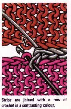 Handarbeit-Tipp - - - - Strickstücke zusammenhäkeln - - - - 3d illusion afghan block pattern | Afghan Crochet Answers (Crochet Afghan Pattern, Stitch