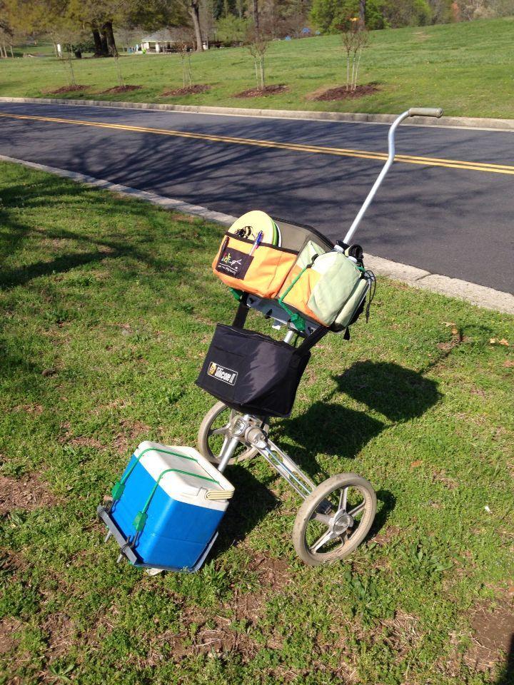 Disc Golf Caddy Cart Google Search Disc Golf Bag Disc