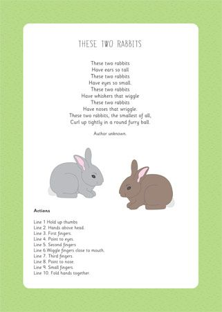 Two Little Rabbits - a lovely rhyme with actions