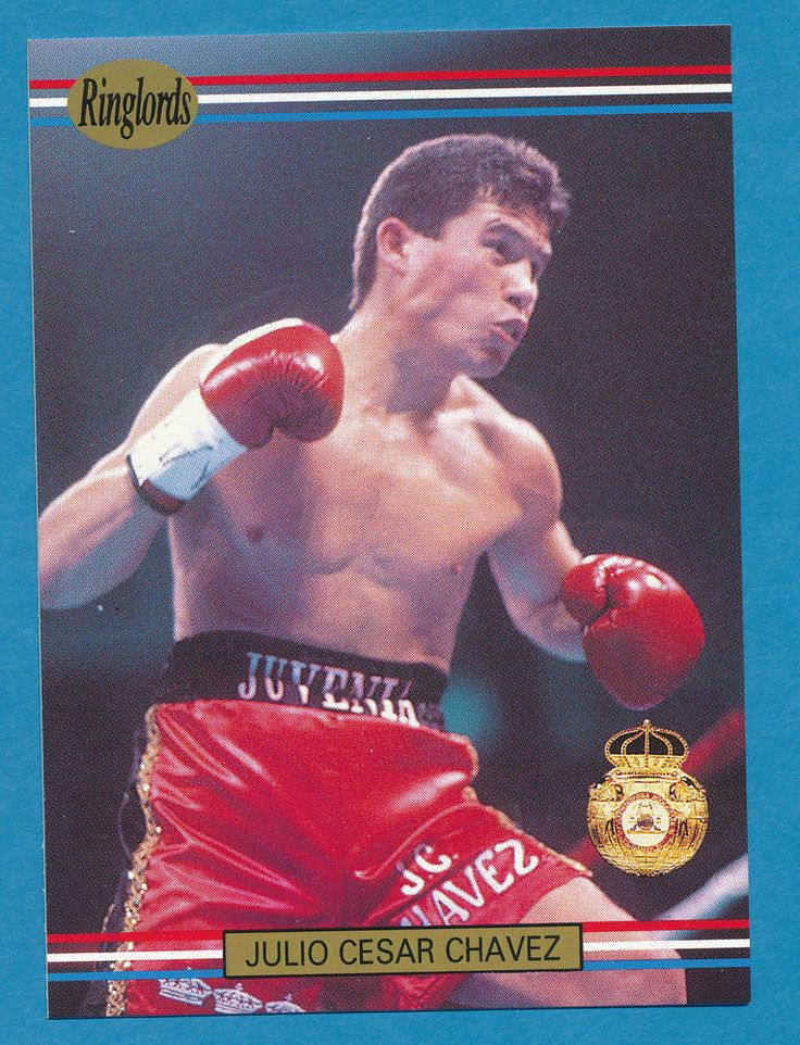 Julio Cesar Chavez boxer boxing 1991 Ringlords trading card #31