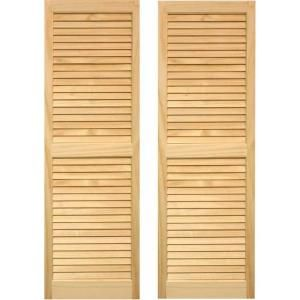 Pinecroft 15 in. x 59 in. Unfinished Louvered Shutters Pair-SHL59 at The Home Depot $69.00 a pair - the same ones are $140 at Lowes