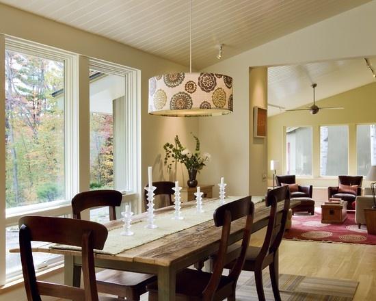 dining room drum shade light decor ideas pinterest. Black Bedroom Furniture Sets. Home Design Ideas