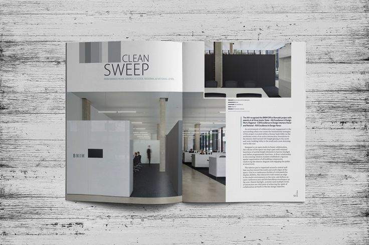 Iowa Architect Magazine Layout Design
