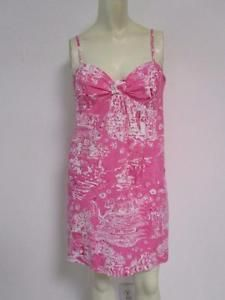 Lilly Pulitzer Pink Skinny Dippin Kelly Sun Dress 6 8  | eBay