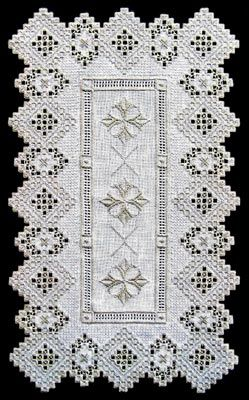 See the pretty Hardanger Silver Fantasy Runner at Nordic Needle