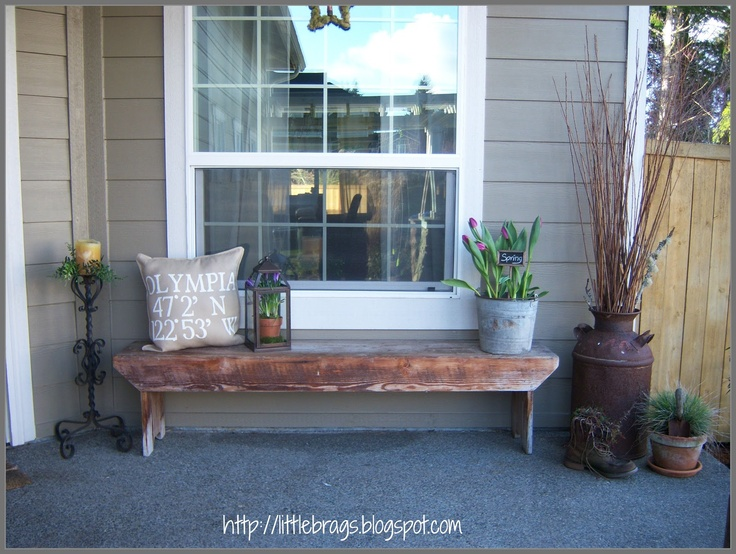 Little Brags: A Little Spring Fever On The Porch. #springfever #porch ·  Porch DecoratingSpring DecorationsOutdoor IdeasOutdoor ...