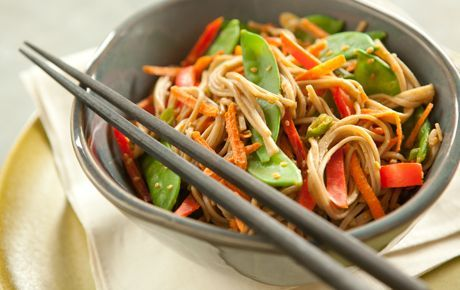 Sesame noodles: Think this could work at a campsite. Toss all flavors together at home, just cook the noodles and add the rest!