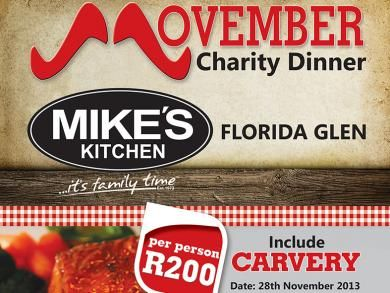 Mike's Kitchen Florida Glen Movember Charity Dinner