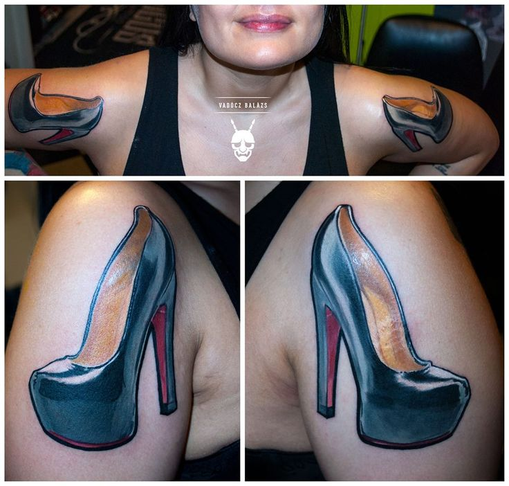 high heels pumps tattoo by Balázs Vadócz at Creation by Vadócz Tattooshop